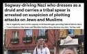 Nazista przebrany za druida jeżdzący Segwayem i noszący plemienną dzidę aresztowany