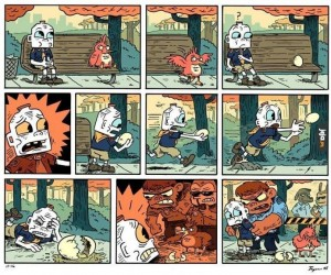 Dlaczego bohaterem tego komiksu jest butelka mleka?