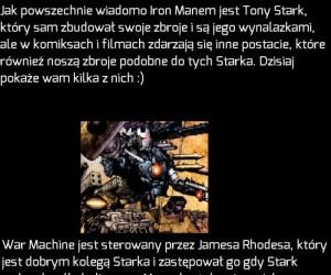 Postacie noszące zbroje podobne do tych Iron Mana