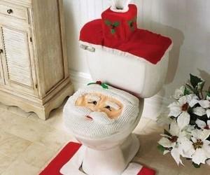 Świąteczny wystrój toalety