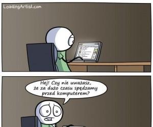 Za dużo przed komputerem