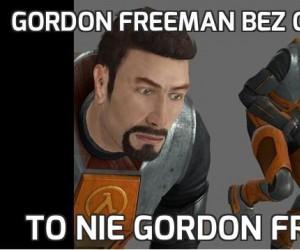 Gordon freeman bez okularów