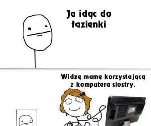 Mama przy komputerze