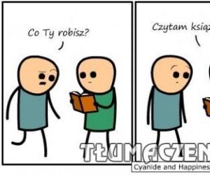 A ten książkę czyta