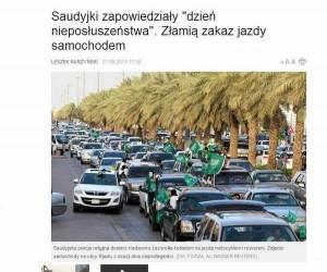 """Saudyjki zapowiedziały """"Dzień nieposłuszeństwa"""""""