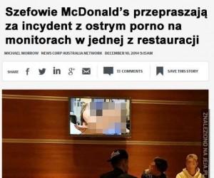 McDonald's przeprasza, nie wiem za co