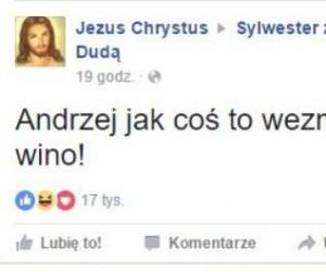Sylwester u Andrzeja - wizyta Jezusa