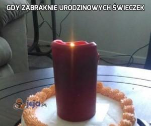 Gdy zabraknie urodzinowych świeczek
