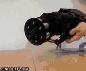 Laserowy minigun