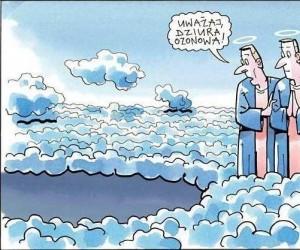 To tam spadają anioły