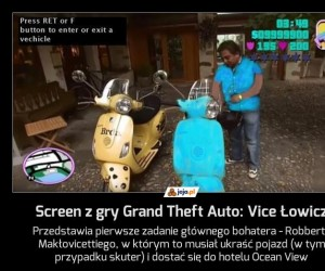 Screen z gry Grand Theft Auto: Vice Łowicz