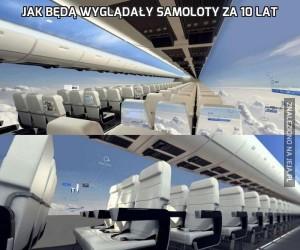 Jak będą wyglądały samoloty za 10 lat