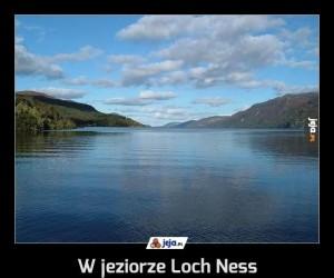 W jeziorze Loch Ness