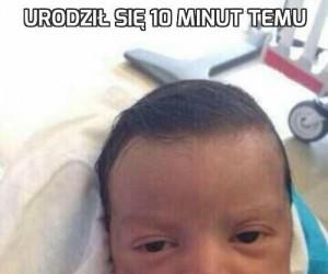 Urodził się 10 minut temu