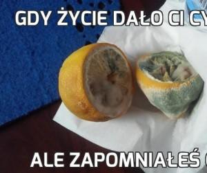 Gdy życie dało Ci cytrynę