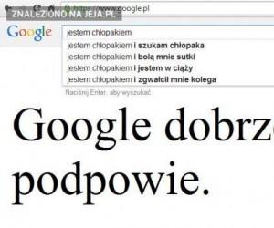 Podpowiedzi Google...