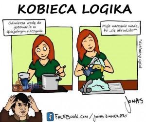 Kobieca logika - mycie naczyń