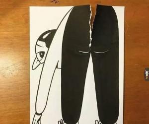 Rozerwane nowe spodnie