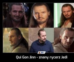 Qui Gon Jinn - znany rycerz Jedi