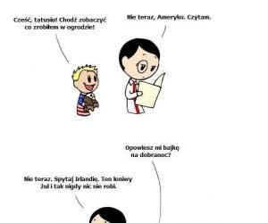 Synek Ameryka i tatuś Anglia
