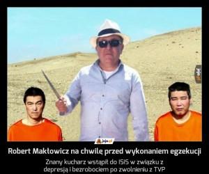 Robert Makłowicz na chwilę przed wykonaniem egzekucji