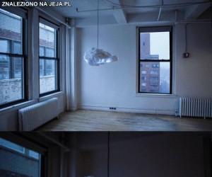 Lampa imitująca burzową chmurę