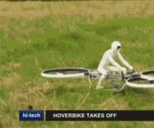 Pierwszy lot latającego motocykla