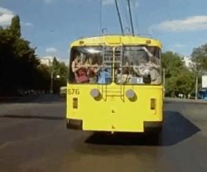 Czasami aż miło jak autobusem zatrzęsie