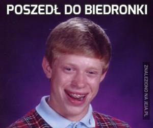 Poszedł do Biedronki
