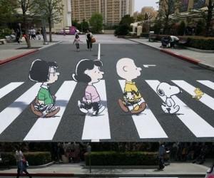Iluzja na przejściu dla pieszych