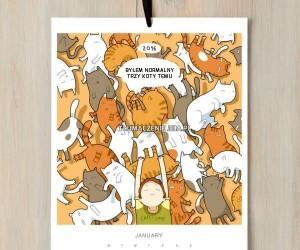Kalendarz dla każdego miłośnika kotów