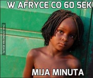 W Afryce co 60 sekund