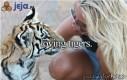 Tygrysy i laski uwielbiają się nawzajem