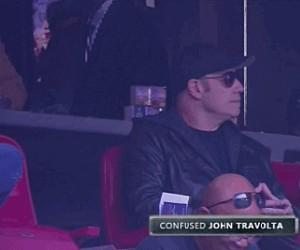 Gdy Travolta dowiaduje się, że robi furorę w Internetach