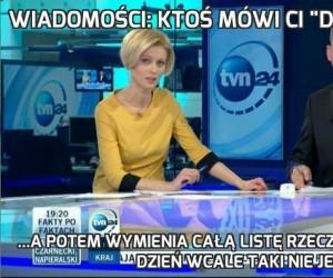 """Wiadomości: Ktoś mówi Ci """"Dzień dobry""""..."""