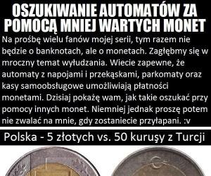 Oszukiwanie automatów na monety