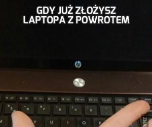 Gdy już złożysz laptopa z powrotem