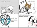 Nie można budzić kotka