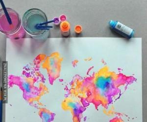 Kolorowa mapa