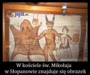 W kościele w Słopanowie