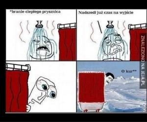 Ciepły prysznic