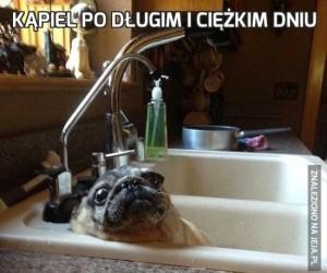 Kąpiel po długim i ciężkim dniu