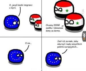 O, jacyś biedni imigranci z Syrii