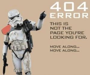 Error 404, to nie tej strony szukacie