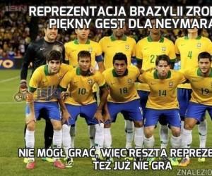Reprezentacja Brazylii zrobiła piękny gest dla Neymara