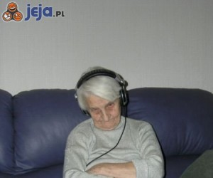 Discman i babcia