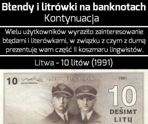 Błędy i literówki na banknotach - cz. II