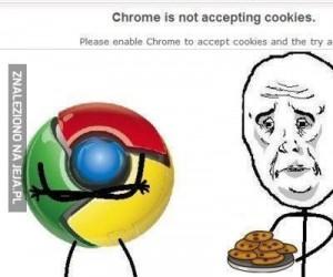 Moja przeglądarka nie lubi moich ciasteczek