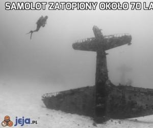 Samolot zatopiony około 70 lat temu