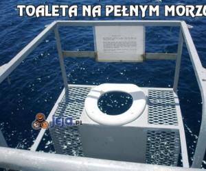 Toaleta na pełnym morzu